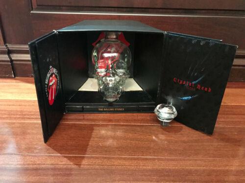 The Rolling Stones 50th Anniversary Crystal Head Vodka Skull Bottle CD Case Set
