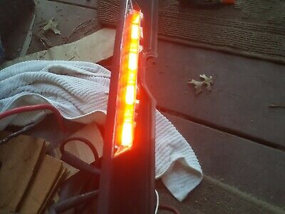 06-12 Mitsubishi Eclipse Spyder 3rd Third Brake Light Spoiler Trunk Handle Trim Third Brake Light Trim