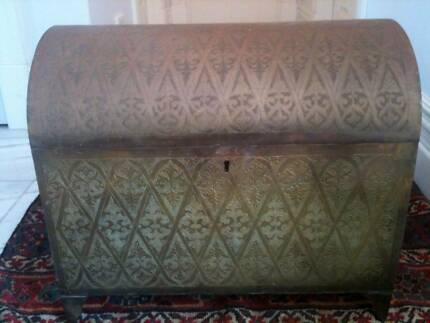 Moroccan Decorative Engraved Brass Chest Nedlands Nedlands Area Preview