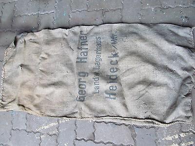 Großer Leinensack Mehlsack mit Aufdruck Georg Hafner Land Lagerhaus Heideck