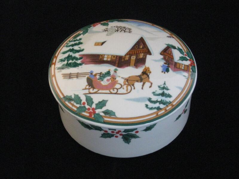 Christmas Magic Mikasa Porcelain Trinket Box