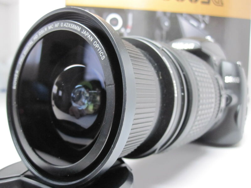 Ultra Wide Angle Macro Fisheye lens for Nikon d5200 d7000 d5300 18-135 AF-S DX