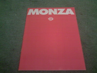 May 1980 OPEL MONZA - UK 26 PAGE COLOUR BROCHURE