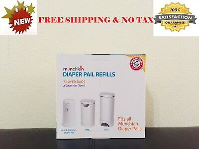 **BRAND NEW ** Munchkin ARM & HAMMER DIAPER Pail Seal REFILL Bags - 20 Count