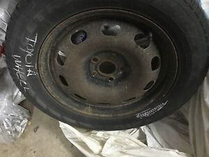 Toyota wheels with Winter tires 195/65/15