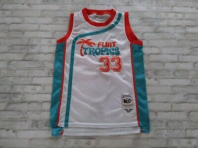 Semi Pro Movie Flint Tropics #33 Jackie Moon Throwback Sewn Basketball Jersey M