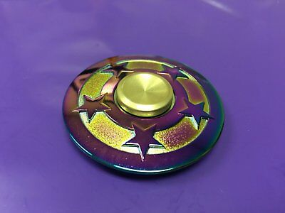 RARE amazing Fidget Spinner rainbow star Metal Hand Finger Toy adult or kids NEW - Awesome Kid Toys