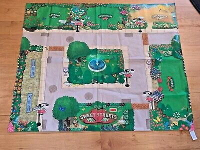 Fisher Price Sweet Streets 2001 Fabric Road Map+ Free Shipping!
