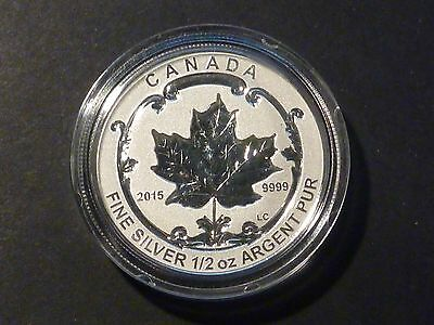 CANADA 2015 $4 SILVER MAPLE LEAF 1/2 OZ SINGLE FROM FRACTIONAL SML SET