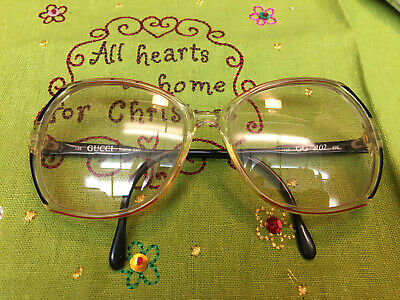 Gucci GG 2102 135 49E Italy Vintage Eyeglasses / Frames GG Red/BL EXL Condition