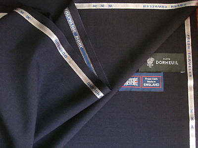 """DORMEUIL """"FRESH TRAVELER"""" SUPERFINE WOOL SUITING FABRIC- 3.4 m.- MADE IN ENGLAND, used for sale  Shipping to United States"""