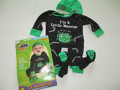 NEW Little Monster Infant Size 0/6 Month Comfortable Halloween Costume Free Ship