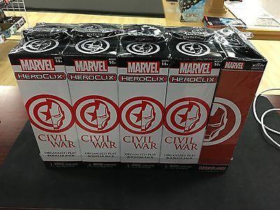 Marvel HeroClix Civil War OP sealed booster brick