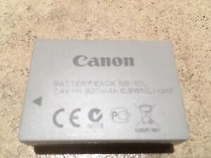 """Authentic Canon """"NB-10L"""" Battery Pack"""