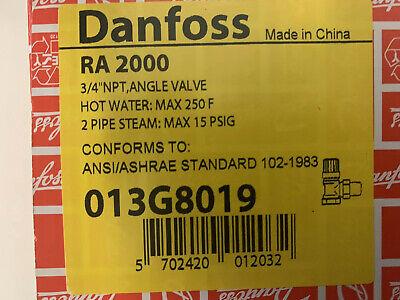 Lot Of 10 Danfoss Plumbing Valve Ra2000 For Hot Watersteam Heating Systems.