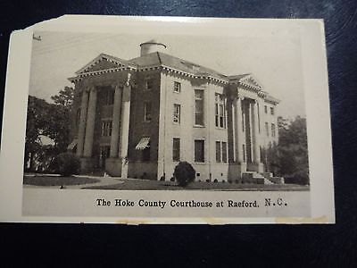 RPPC c1940s Raeford, NC North Carolina Hoke County Courthouse - Real Photo