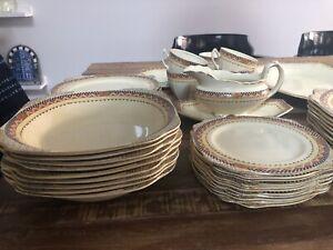 Set vaisselle antique exceptionnel 1930s Art Deco (England)