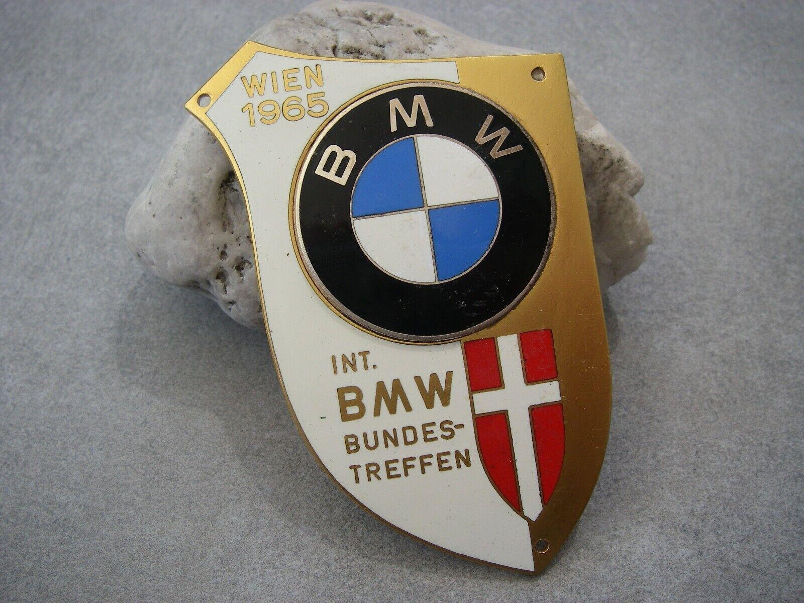 vintage INTERNATIONAL BMW MEETING VIENNA AUSTRIA 1965 Car Badge BUNDESTREFFEN
