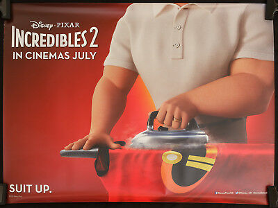 INCREDIBLES 2 (2018) ORIGINAL UK QUAD DOUBLE-SIDED CINEMA POSTER - COLLECTABLE