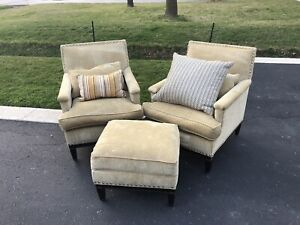 Lounge/Reading Chair Set Beige