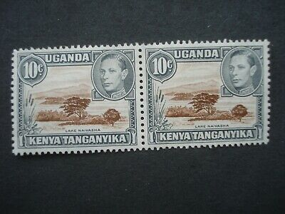MNH Pair of KUT Stamps 10c Brown and Grey