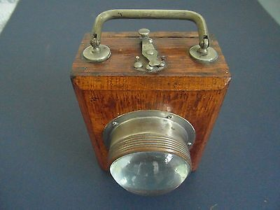 Vintage EverReady Wooden Box Lamp