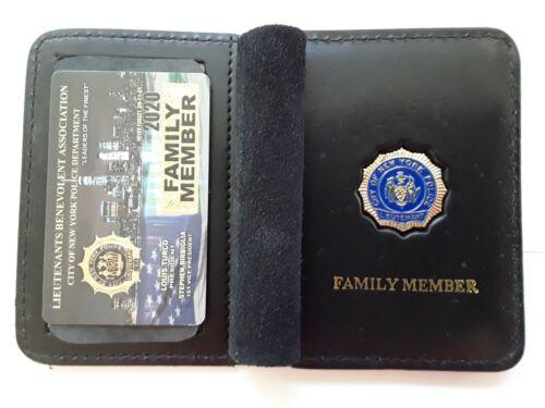 1 BRAND NEW  LBA PBA CARD WITH LEATHER FAMILY MEMBER WALLET CEA SBA DEA PBA CARD