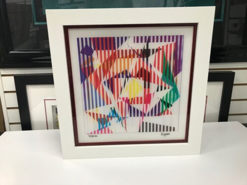 Yaacov Agam  Agamograph Signed & Numbered Limited Edition Framed