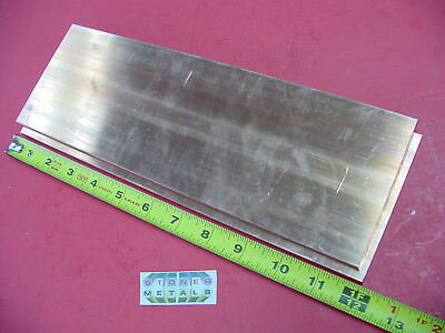 2 Pieces 14x 4 C110 Copper Bar 12 Long Solid Flat Bar .25x 4 Bus Bar Stock