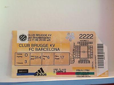 Football Ticket - Club Brugge kv - FC Barcelona - 2007 UEFA