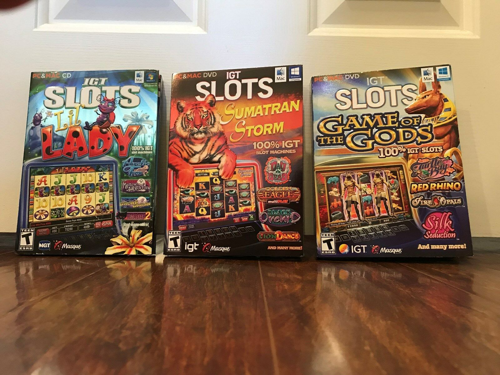 Computer Games - set of  3 separate igt casino slots computer games --- new