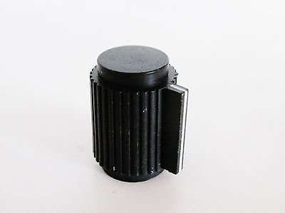 10 Pcs Black 6mm Knurled Shaft 1564 Inner Dia Potentiometer Control Knobs Rogan