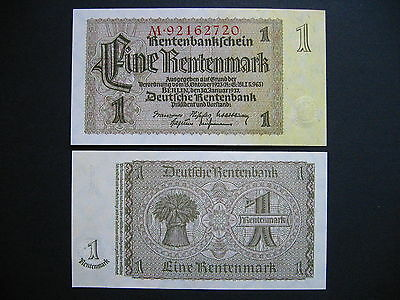 GERMANY  1 Rentenmark 30.1.1937  Ros. 166b  (P173b)  UNC