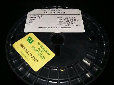 30 Awg Solid Kynar Wire Ul1423 Yellow 1000 Ft Spool