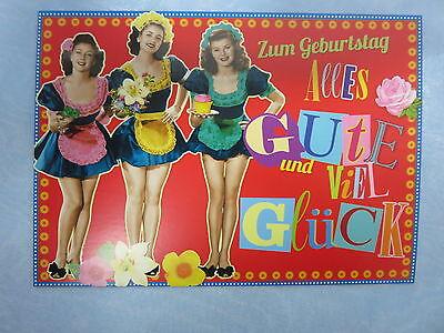 Postkarte * Zum Geburtstag Alles Gute und viel Glück * 8129-14A