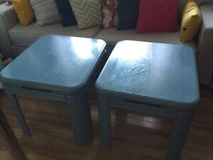 Side table set of 2 - soft jade