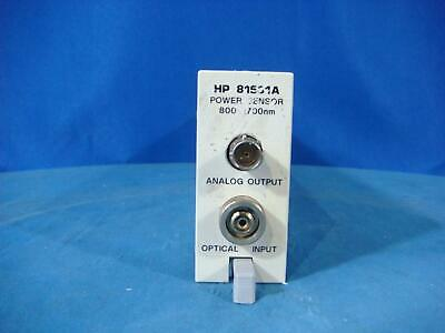 Agilent 81531A Optical Power Sensor Module 800-1700nm for 8153A Mainframe  Optical Power Sensor