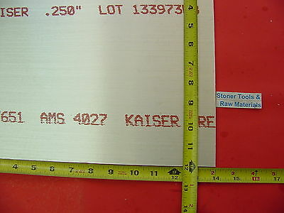 14 X 12x 14 Aluminum 6061 Sheet Plate .250 Thick T6 New Flat Mill Bar Stock