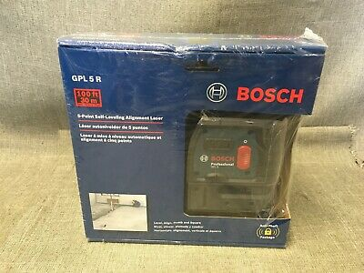 BOSCH GPL 5 R Self Leveling 5-Point Alignment Laser 100 Feet