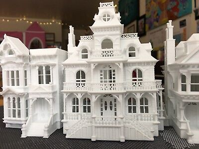 ictorian Mansion Train Layout Haunted Halloween House (Halloween Mansion)