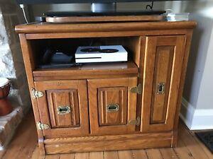 Antique tv stand