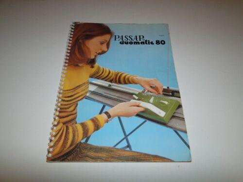 PASSAP Knitting Machine Duomatic Instruction Manual
