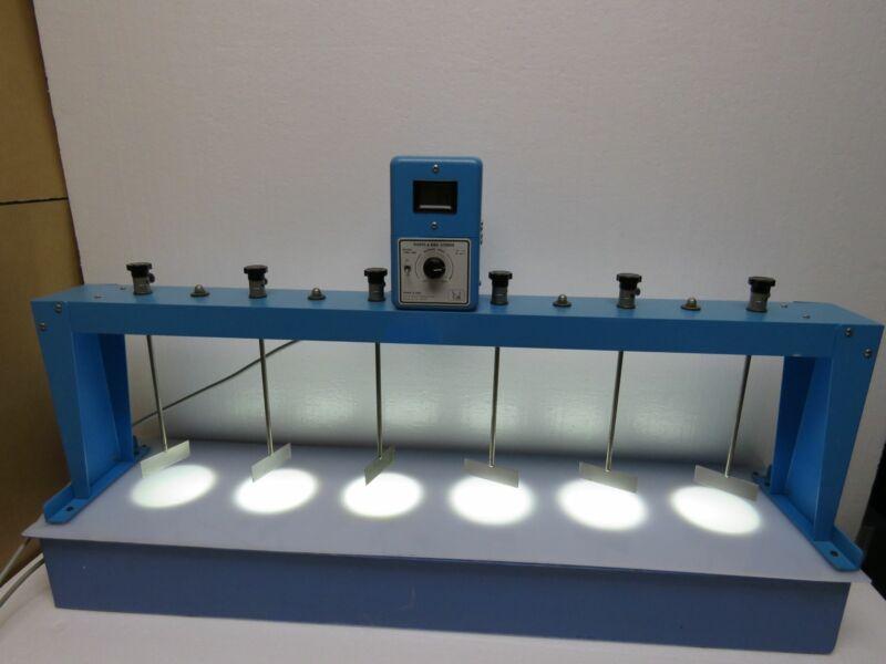 Phipps & Bird 7790-400 Flocculation Stirrer Jar Tester w/ FLOC illuminator Base