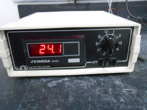 OMEGA DP460-K-DSS MICROCOMPUTER 10 CHANNEL BENCHTOP DIGITAL THERMOMETER