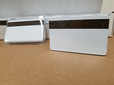 50 White Loco Mag Pvc Cards Cr80 .30 Mil 3 Track Magnetic Stripe Usa Shipping