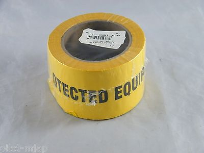 LAB SAFETY SUPPLY PROTECTED EQUIPMENT KEEP OUT CAUTION TAPE #11656-1Y  3