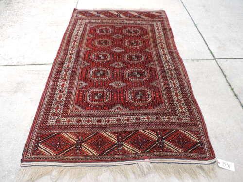 5x8ft. Authentic Handmade Turkoman Bokharra Wool Rug