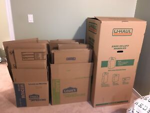 Moving Boxes - With Wardrobe Box