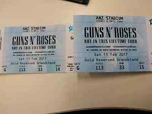 Guns and Roses Gold Reserve tickets x2 (Saturday) Hurlstone Park Canterbury Area Preview