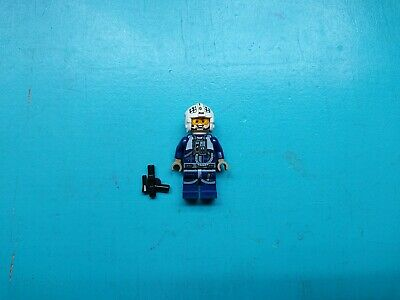 Lego Star Wars Minifigure Rebel Pilot U-wing / Y-wing Blue Jumpsuit 75172 75155!